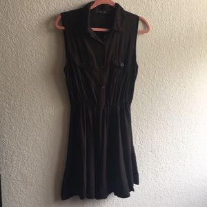 Forever 21 black button up dress
